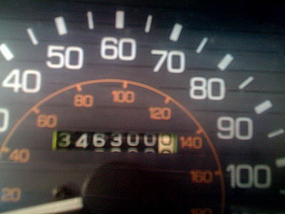 Odometer for a high mileage client at Japanese Aute Service